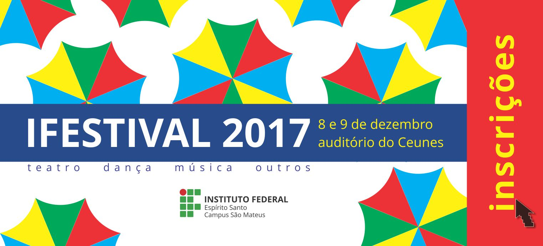 Inscrições para o Ifestival 2017